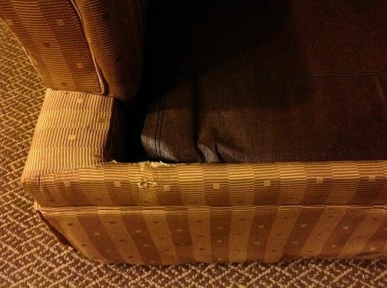 Candlewood Suites Beaumont: Couch in my room, I threw a sheet over it.