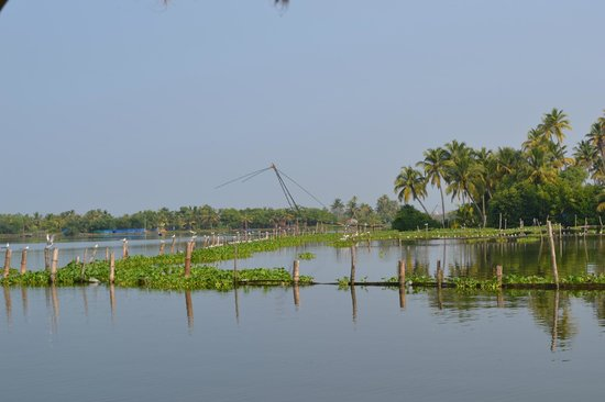 Breeze Backwater Homes: Chinese fishing nets near the resort..