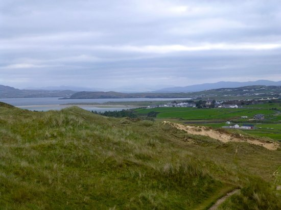 The Whins : On Hike from B&B. Dunfanaghy in distance