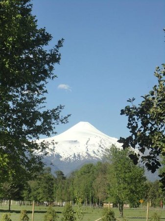 Maison Nomade Eco B&B: Vista del Volcán Villarrica