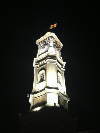 Hotel Villa La Tour : Clock tower at night