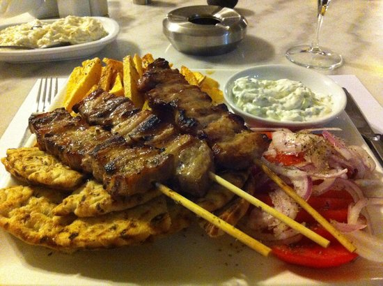 Perivolos, Greece: Would there be room for dessert?