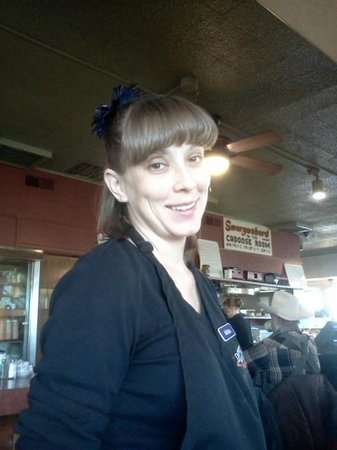 Depot Grill: great service from a smiling waitress