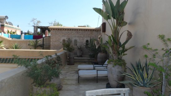 Riad Bamileke: terrace
