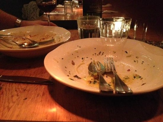 Jamie's Italian Covent Garden: Clearly we didn't like these dishes much