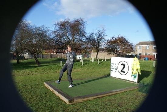 Footgolf Yorkshire: European Tour golfer David Lynn plays footgolf