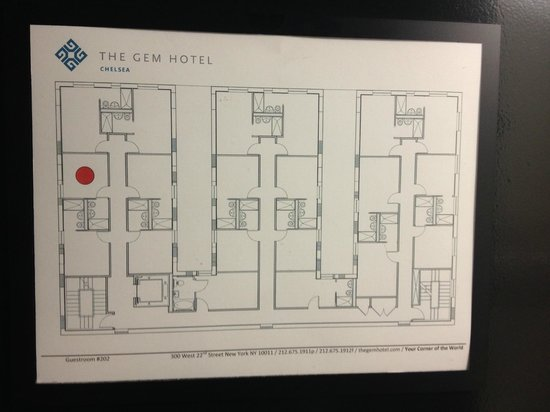 The GEM Hotel Chelsea : Emergency building layout