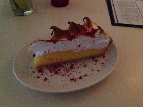 Federal Delicatessen: Lemon Meringue Pie sprinkled with Freeze Dried Raspberries.