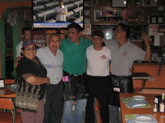 My husband with el Moro Family
