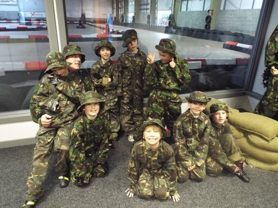 Xtreme Karting and Combat Edinburgh: Boys about to set off