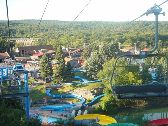 Camelbeach Mountain Waterpark View From Chair Lift