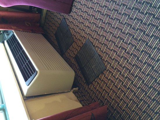 Comfort Suites Raleigh Durham Airport/RTP : Air filters in floor and ac unit coming off wall.