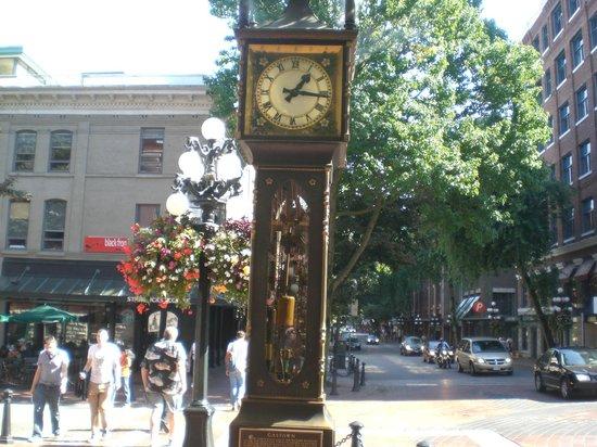 Centre-ville de Vancouver : Steam clock in Gastown