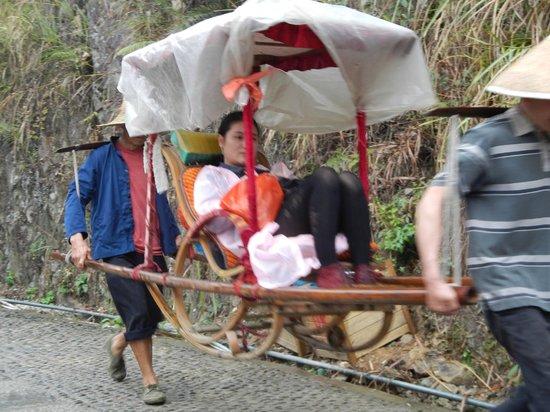 Longji Star-wish Resort: If you can't manage the climb, take a sedan chair!
