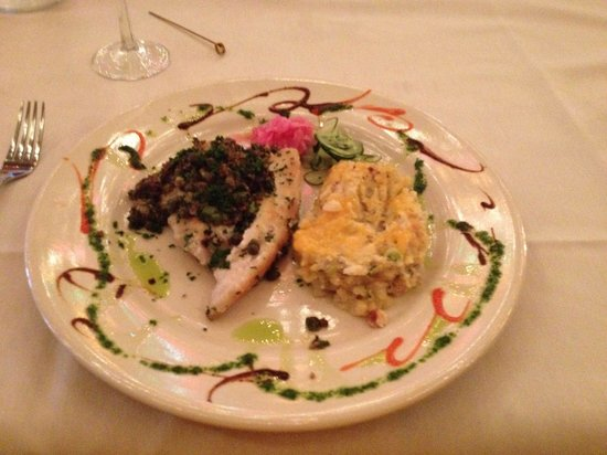 Cheryl's By the Bay : Yummy grouper with baked potato casserole.