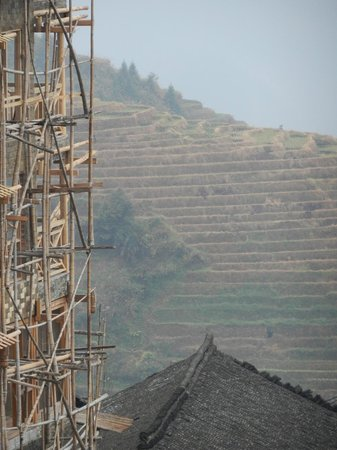 Ping'an Village : Bamboo scaffolding used in construction