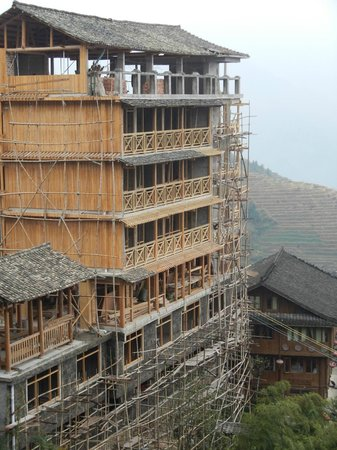 Ping'an Village : Ping'an new hotel under construction