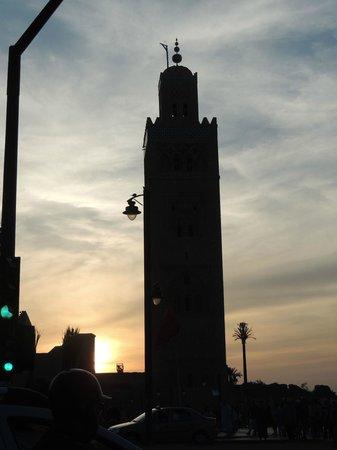 Riad Dar Oulhoum : La koutoubia dominante
