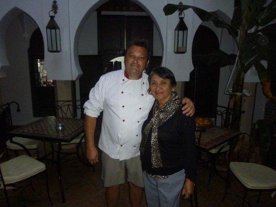 Riad d'Airain Marrakech: Chef Frederic & Mamy