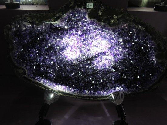 The Crystal Caves : Just another spectacular specimen of Amethyst here - & they ENCOURAGE you to touch the exhibits!