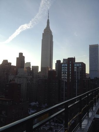 View of the Empire state building from the roof garden