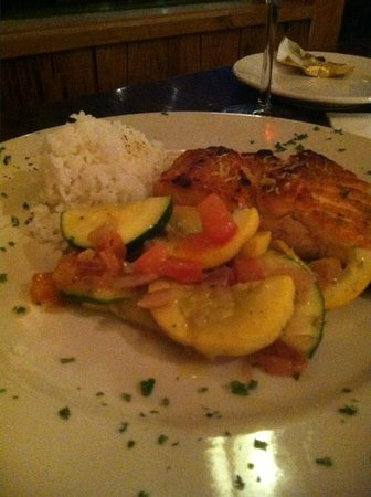 Foolish Frog: Salmon special with rice and Veggies