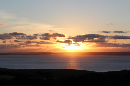 Blue Ray Lodge: a spectacular sunset