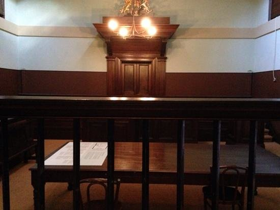 Justice & Police Museum: Defendants View of the Bench