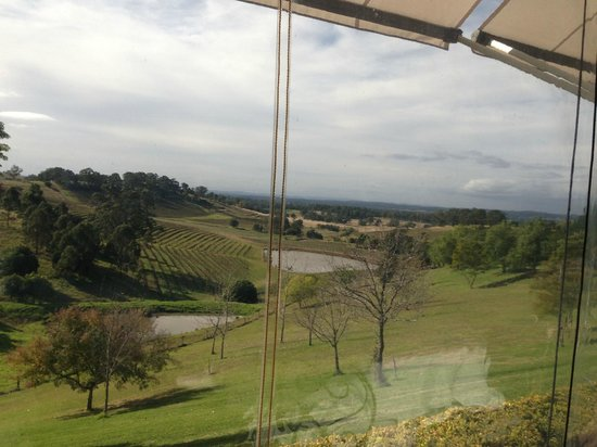 Small Winemakers Centre: The view from Robert Molines's Restaurant at Tallavera Grove Estate, mount view
