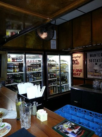 Malone's Steak & Seafood: Nice beer selection in the cooler.