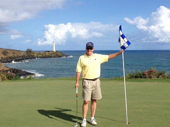 Kauai Lagoons Golf Club - Kiele Course: The signature 5th hole....beautiful view!