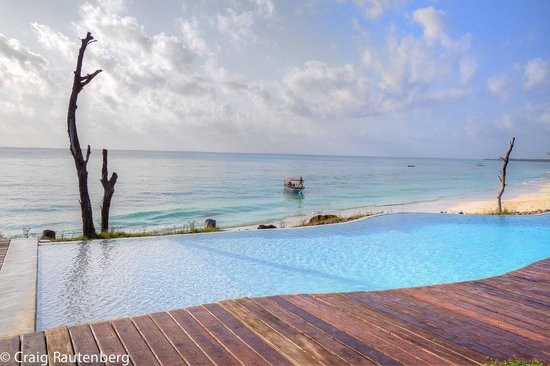 Pongwe Beach Hotel : Infinity Pool, Pongwe Beach