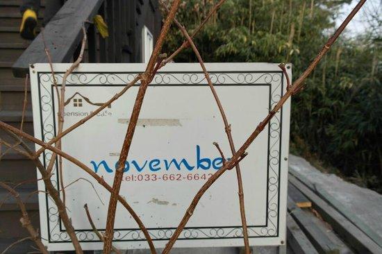 November: signboard