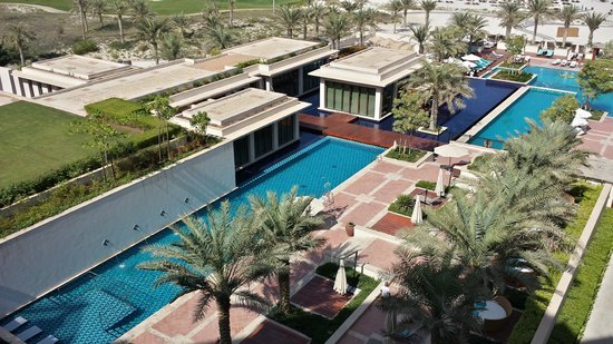 The St. Regis Saadiyat Island Resort : View from the room of ONE of the many outdoor pool areas