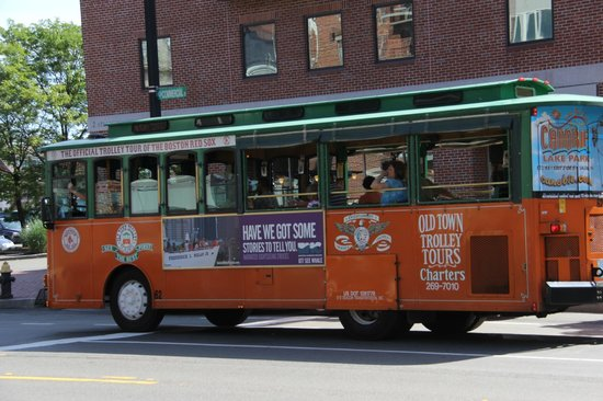 Pic Of The Tour Bus Prior To Boarding Bostons Old Town Trolley Tours