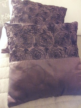 Potters Hotel & Brewery: stained bed cushions