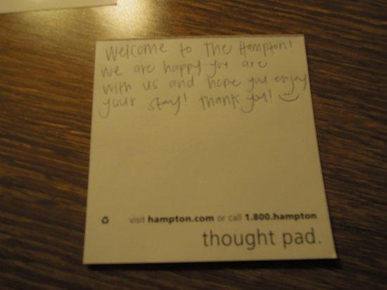 Hampton Inn & Suites Springdale Zion National Park : Personal note