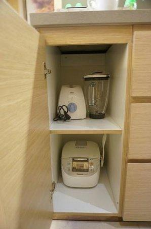 Fraser Suites Guangzhou: blender and toaster