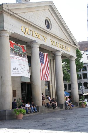 Quincy Market at the heart of Boston Chowda  |  Faneuil Hall, Boston, MA