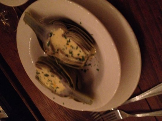 LaTapa: Whole steamed artichoke w/ grapefruit beurre blanc!!! What an amazing appetizer!!! Perfectly ste