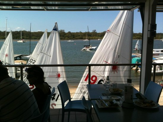 Noosa Yacht and Rowing Club: view of river from tables