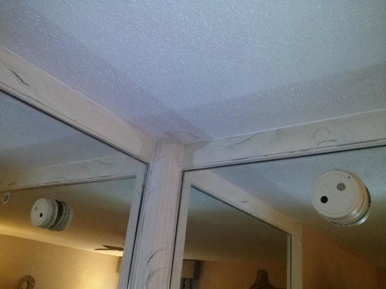 Baymont Inn & Suites Bridgeport/Frankenmuth : leaking ceiling in the VIP suction
