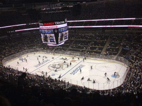 PPG Paints Arena : view from our seats during warmup.