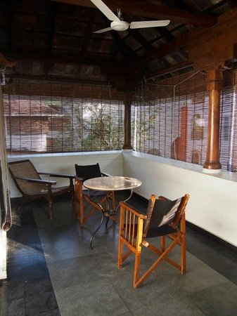 Malabar House: The private outdoor terrace behind room 11