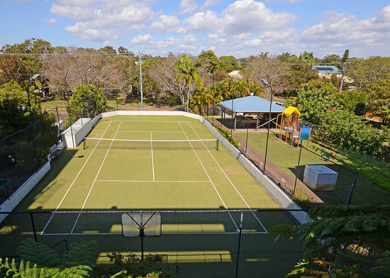 Riviera Resort: Enjoy a hit on our full size synthetic grass tennis court
