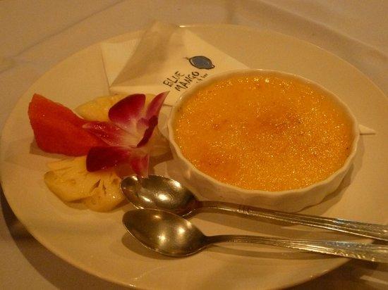Perfecte Keuken Creme Brulee : Blue Mango Restaurant