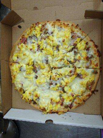 Luigis Pizza: Luigi's World Famous Breakfast Pizza! Fully Loaded $19.99