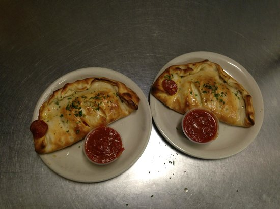 Luigis Pizza: Two Small Pepperoni Calzones Served With Our Marinara Sauce $6.99 Each