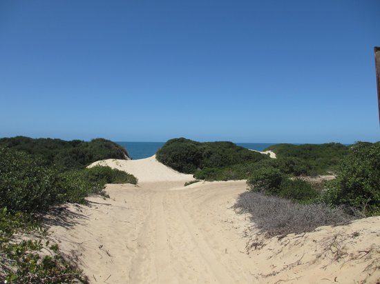 Praia de Peixe: path to the beach with beautiful sea in background