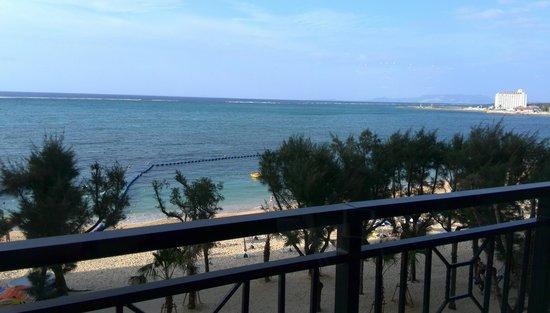 Tiger Beach : ホテルのフロントから見た、ビーチ